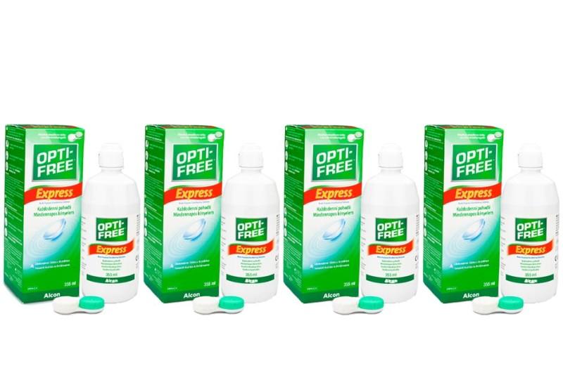 OPTI-FREE Express 4 x 355 ml cu suporturi de la Alcon