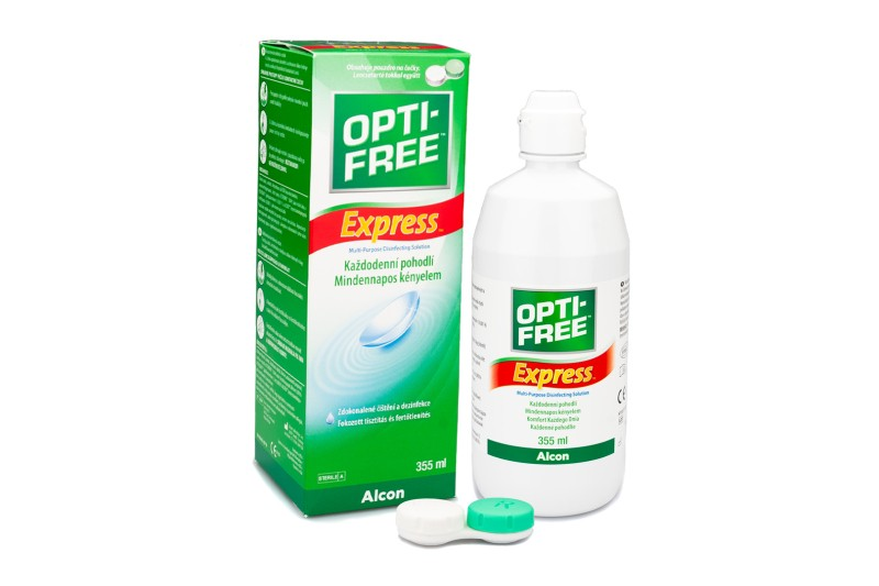 OPTI-FREE Express 355 ml cu suport de la Alcon