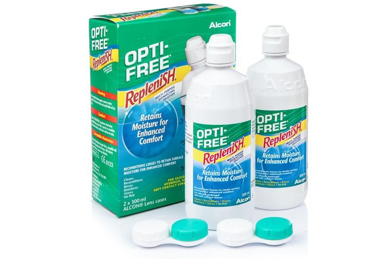 Opti-Free RepleniSH 2 x 300 ml s puzdrami Opti-Free