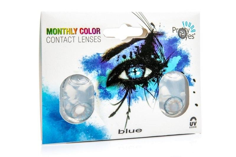 Pretty Eyes Young měsíční (2 čočky) - dioptrické Ostatní kontaktní čočky Měsíční čočky barevné sféri