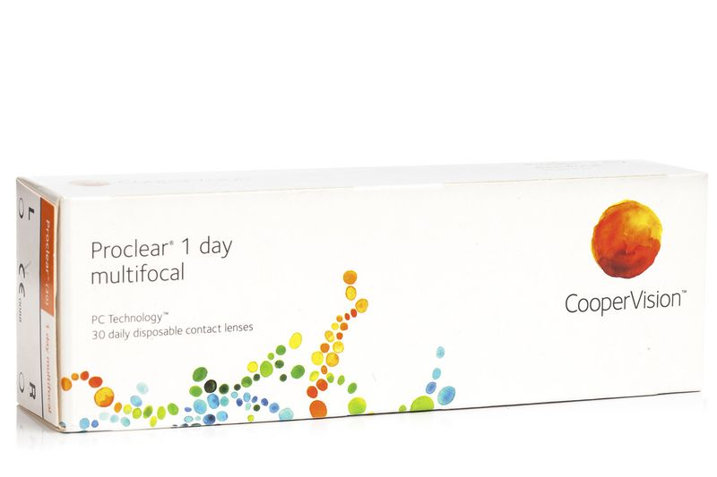 Proclear 1 Day Multifocal (30 čoček) Proclear Jednodenní čočky multifokální pro sport