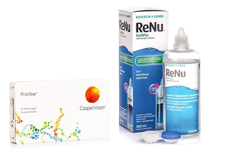 Image of   Proclear Compatibles Sphere CooperVision (6 linser) + ReNu MultiPlus 360 ml med etui