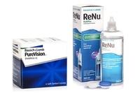 PureVision (6 lentile) + ReNu MultiPlus 360 ml cu suport