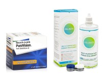 PureVision Toric (6 lentile) + Solunate Multi-Purpose 400 ml cu suport