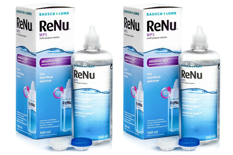 ReNu Mps Sensitive Eyes 2 x 360 ml s pouzdry Renu