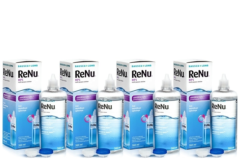 ReNu Mps Sensitive Eyes 4 x 360 ml s pouzdry Renu