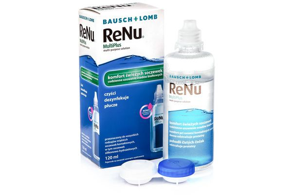ReNu MultiPlus ® Multi-Purpose 120 ml cu suport