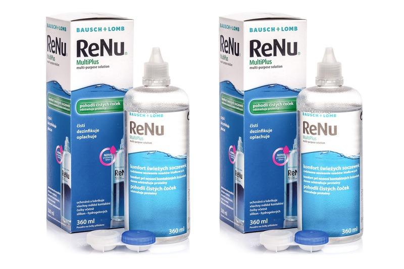 ReNu MultiPlus 2 x 360 ml s pouzdry Renu