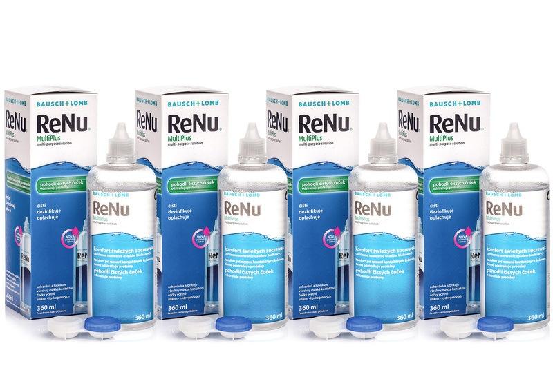 Billede af ReNu MultiPlus 4 x 360 ml med etuier