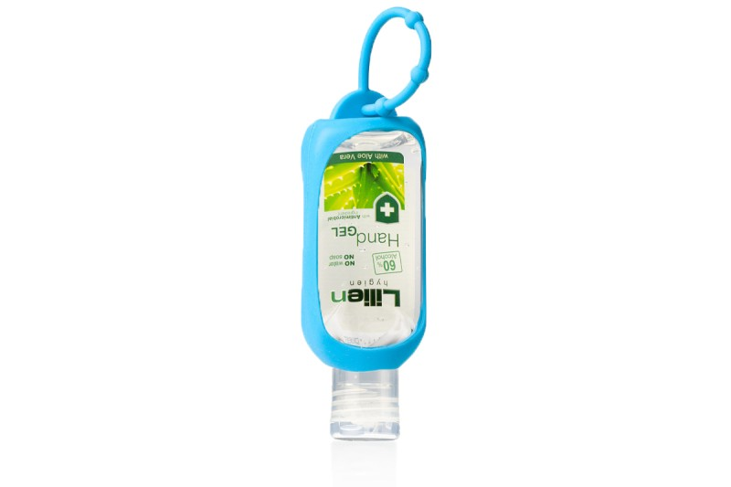 Silikonový držák + čistící gel na ruce Lilien 50 ml