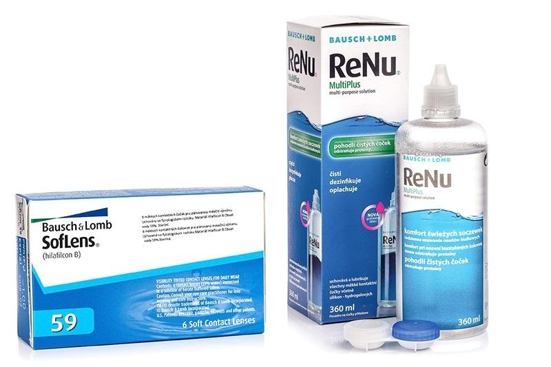 Image of   SofLens 59 (6 linser) + ReNu MultiPlus 360 ml med etui