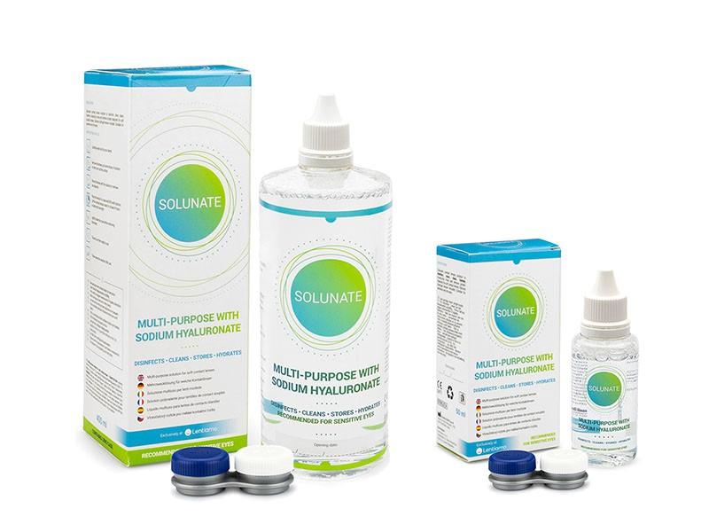 Solunate Multi-Purpose 400 ml + 50 ml s pouzdry Solunate roztoky pro kontaktní čočky